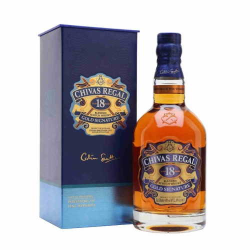CHIVAS REGAL GOLD SIGNATURE SCOTH 18YEARS WHISKY CL70